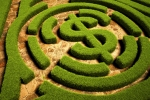 Path to Financial Freedom, Hedgerow maze leading to a dollar symbol